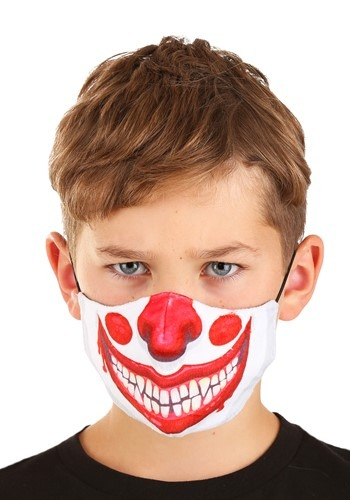 Clown Sublimated Face Mask for Kids.