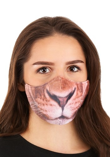 Lion Sublimated Face Mask for Adults