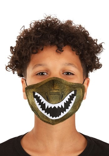Dinosaur Sublimated Face Mask for Kids