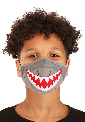 Click Here to buy Shark Sublimated Face Mask for Kids from HalloweenCostumes, CDN Funds & Shipping