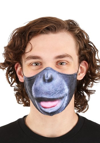 Click Here to buy Gorilla Sublimated Face Mask for Adults from HalloweenCostumes, CDN Funds & Shipping