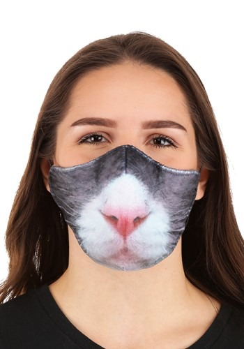 Click Here to buy Cat Sublimated Face Mask for Adults from HalloweenCostumes, CDN Funds & Shipping