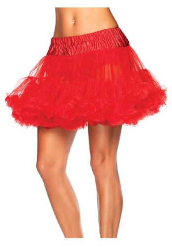 Plus Size Red Tulle Petticoat
