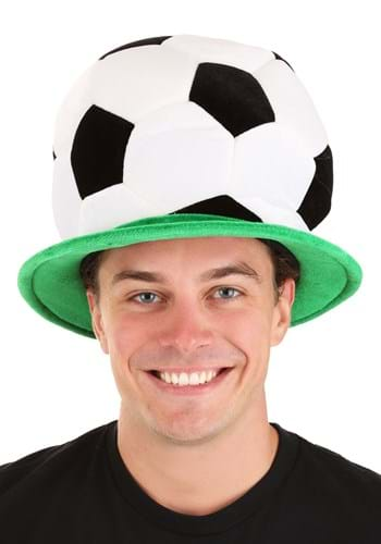 Click Here to buy Plush Soccer Ball Hat from HalloweenCostumes, CDN Funds & Shipping
