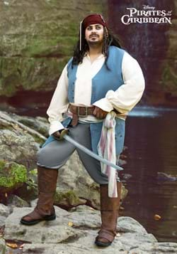 Captain Jack Sparrow Plus Size Costume for Adults