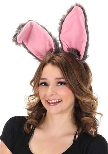Click Here to buy Bendy Bunny Ears Gray Headband from HalloweenCostumes, CDN Funds & Shipping