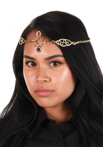 Antique Gold/Black Gem Circlet Adjustable