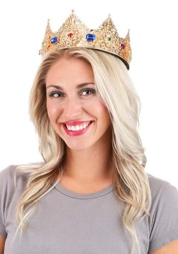 Gold & Gems Ladies Pointed Crown Adjustable 3