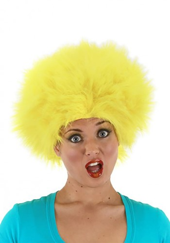 Yellow Fuzzy Wig