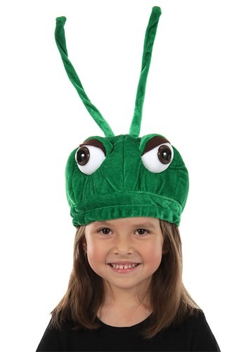 Plush Grasshopper Hat for Kids
