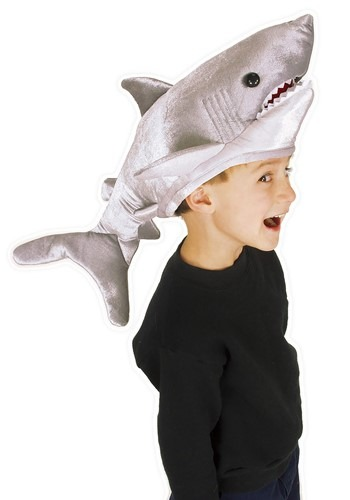 Click Here to buy Kids Shark Plush Hat from HalloweenCostumes, CDN Funds & Shipping