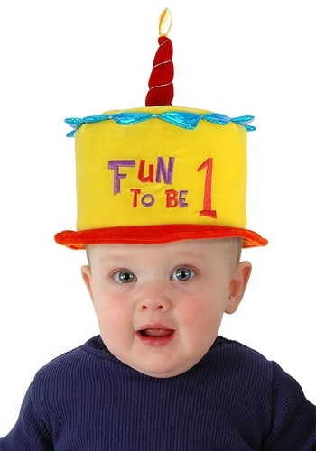 Click Here to buy Birthday Cake Fun to be One Toddler Hat from HalloweenCostumes, CDN Funds & Shipping