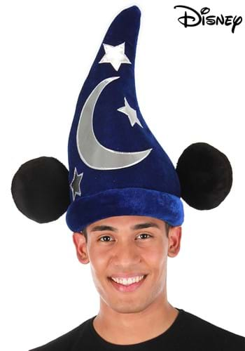 Click Here to buy Mickey Wizard Blue Plush Hat from HalloweenCostumes, CDN Funds & Shipping