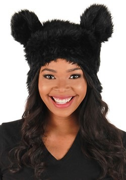 Black Bear Plush Hat