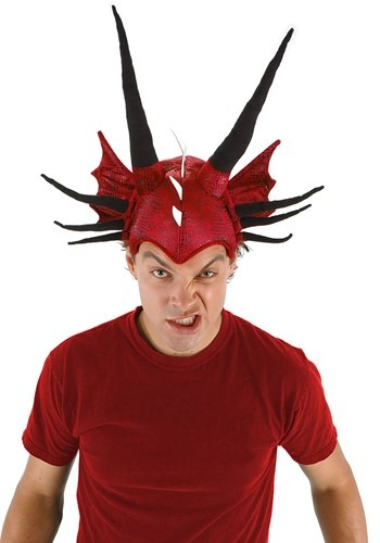 Plush Horned Dragon Hat