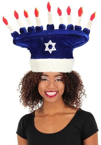 Happy Chanukah Blue Plush Hat