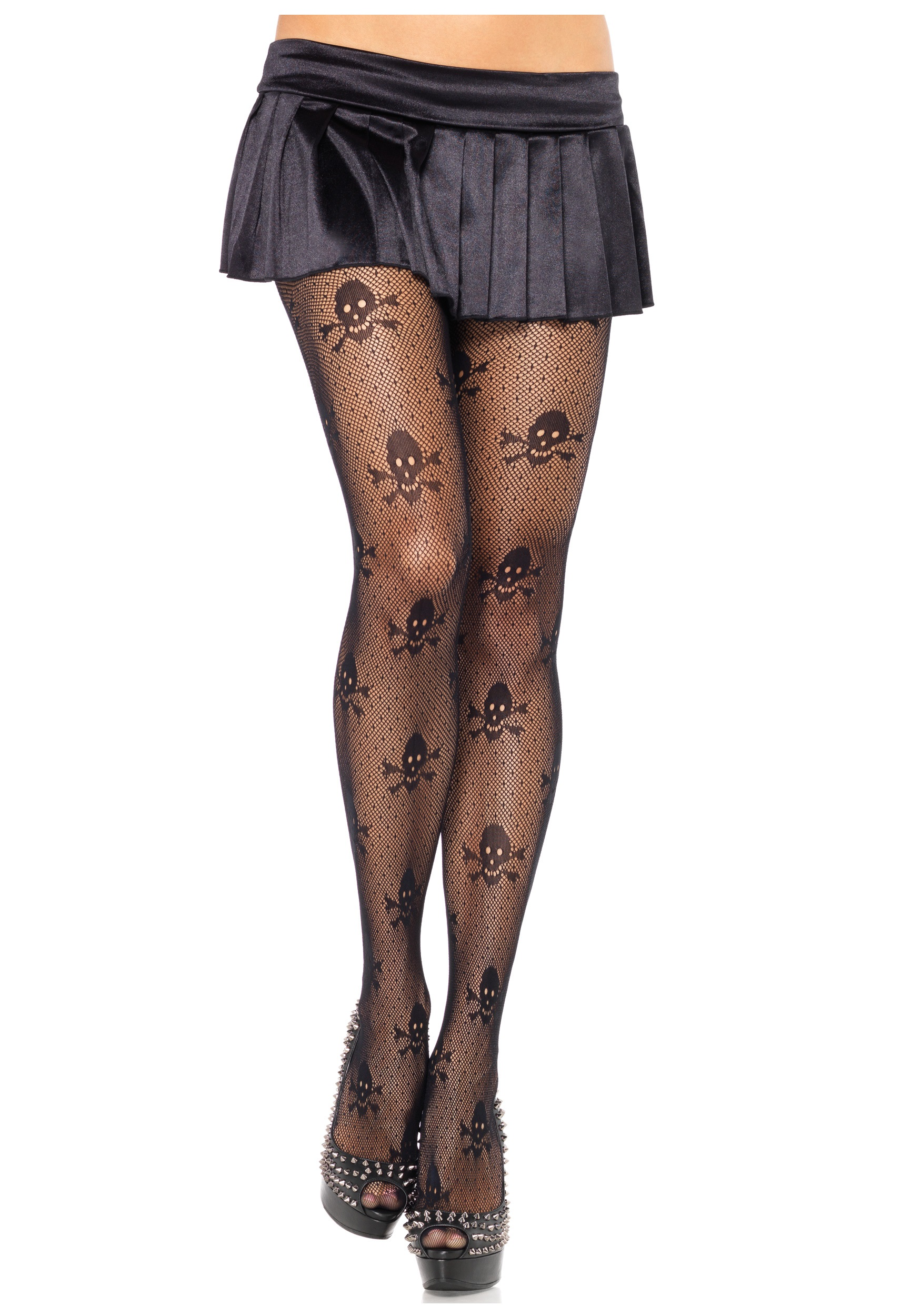 Black Women/'s Lady Mesh Stockings Pantyhoses Tights Skeleton Printed Stockings