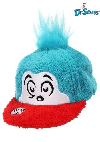 Click Here to buy Cat in the Hat | Thing 2 Fuzzy Cap from HalloweenCostumes, CDN Funds & Shipping