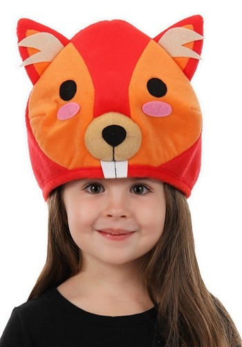Quirky Kawaii Red Squirrel Hat