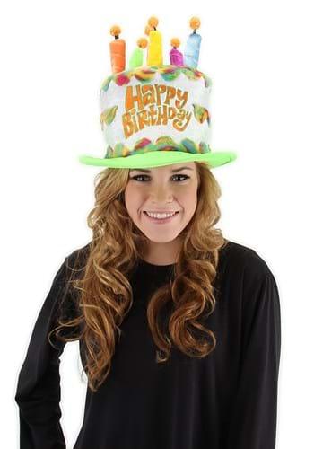 Click Here to buy Plush Rainbow Birthday Cake Hat from HalloweenCostumes, CDN Funds & Shipping