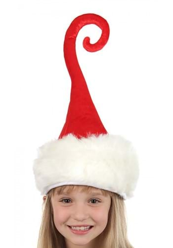 Plush Curly Q Santa Hat