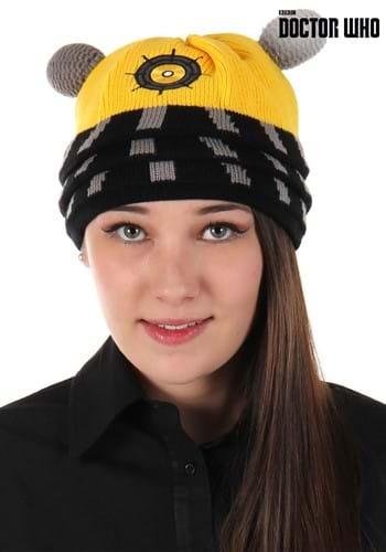 Eternal Dalek Yellow Knitted Winter Hat