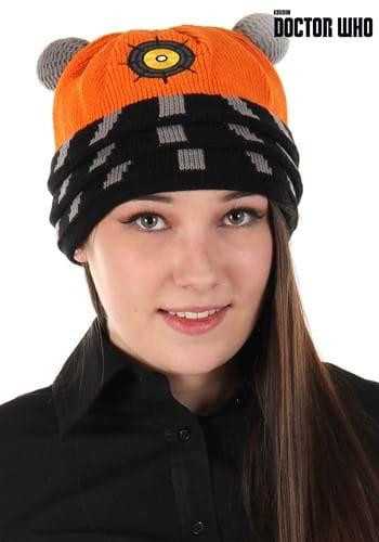 Science Dalek Orange Knitted Winter Hat
