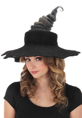 Click Here to buy Midnight Fog Heartfelted Gray Witch Hat from HalloweenCostumes, CDN Funds & Shipping