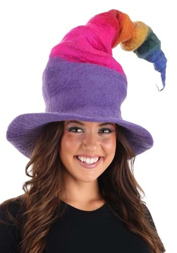 Rainbow Borealis Heartfelted Witch Hat