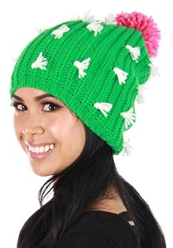 Cactus Knit Slouch Beanie