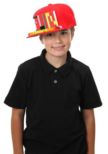 Click Here to buy Red Snapback Hat | Bricky Blocks from HalloweenCostumes, CDN Funds & Shipping