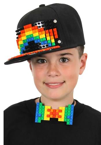 Bricky Blocks | Black Snapback Hat
