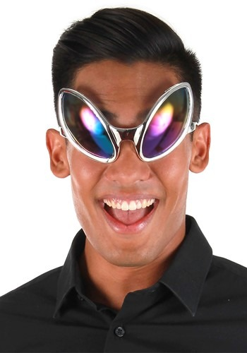 Click Here to buy Silver Close Encounter Rainbow Glasses from HalloweenCostumes, CDN Funds & Shipping
