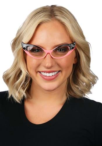 Click Here to buy Vintage Cat Eyes Pink/Clear Glasses from HalloweenCostumes, CDN Funds & Shipping