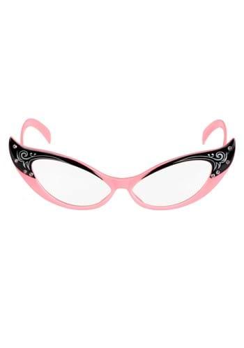 Vintage Cat Eyes Pink/Clear Glasses