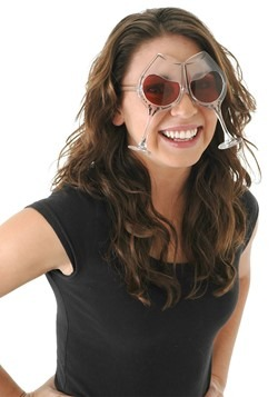 Clear/Rose Wine Goblet Eyeglasses