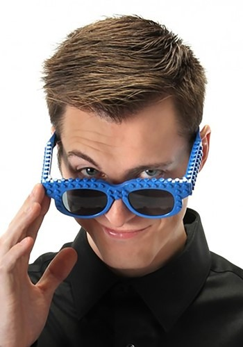 Click Here to buy Blue Bricky Blocks Glasses from HalloweenCostumes, CDN Funds & Shipping