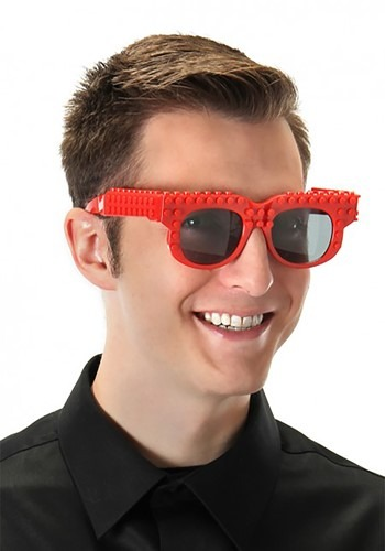 Click Here to buy Bricky Blocks Red Costume Glasses from HalloweenCostumes, CDN Funds & Shipping