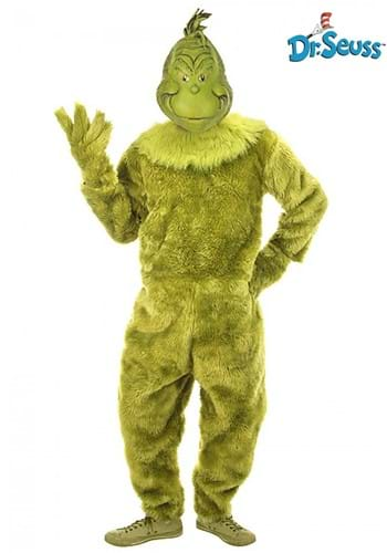 The Grinch Deluxe Mens Jumpsuit w/ Latex Mask