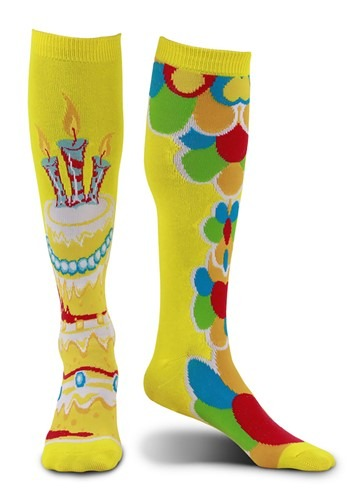Mismatched Yellow Celebration Knee-High Socks
