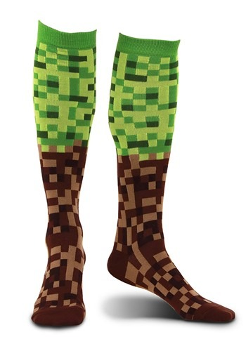 Pixel Brick Knee-High Socks