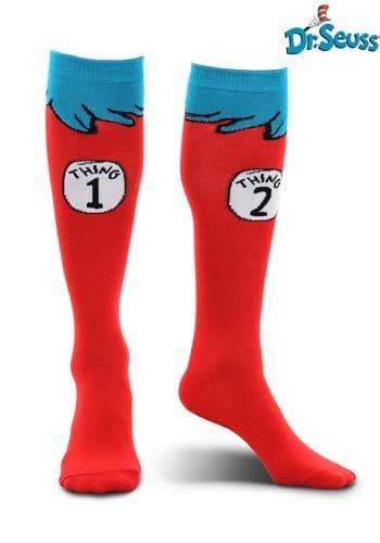 Adult Thing 1 & 2 Costume Socks