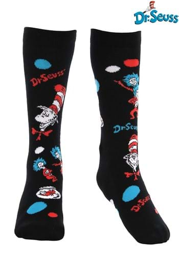 Click Here to buy The Cat In The Hat Pattern Socks for Kids from HalloweenCostumes, CDN Funds & Shipping