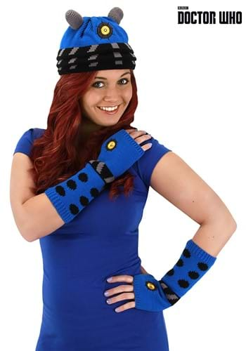 Doctor Who | Dalek Knit Arm Warmers Blue