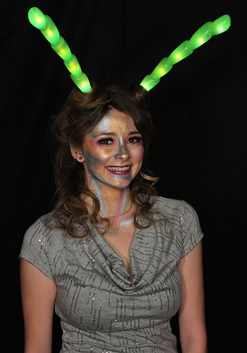 Click Here to buy Green Light-Up Insect Antennae LumenHorns from HalloweenCostumes, CDN Funds & Shipping
