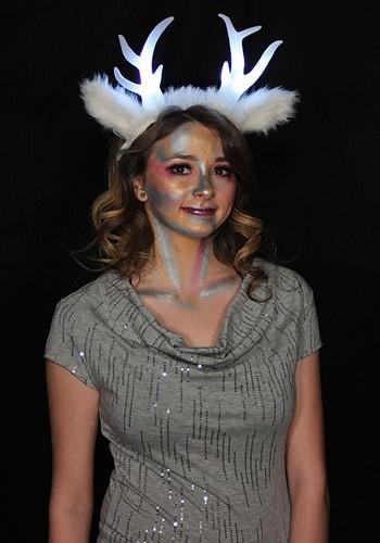 LumenHorns Headband Light-Up Deer Antlers White