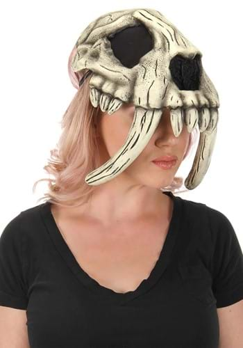 Click Here to buy Sabertooth Caveman Skull Mask from HalloweenCostumes, CDN Funds & Shipping