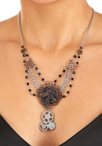 Click Here to buy Chain Gear Steampunk Necklace Antique from HalloweenCostumes, CDN Funds & Shipping