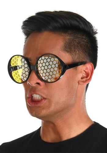 Bug Eye Black/Yellow Glasses