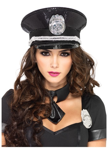 Click Here to buy Sequin Cop Hat from HalloweenCostumes, CDN Funds & Shipping